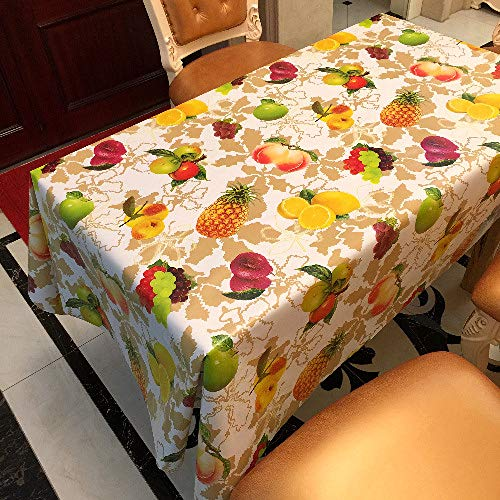 Zcxcc tovaglia in pvc tovaglia rettangolare tridimensionale a tema pastorale di frutta tovaglia pulita tovaglia in vinile/plastica,137 * 200cm