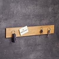 Schlüsselbrett magnetisch Holz | Handgefertigt in Bayern | Schlüsselhalter Magnet | Schlüsselkasten Schlüsselleiste Schlüsselboard Messerleiste | 45cm Eichen-Holz