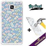 BeCool® Fun - Coque Etui Housse en GEL Flex Silicone TPU Samsung Galaxy A5 2016 [ +1 Protecteur Verre Trempé ] , protège et s'adapte a la perfection a ton Smartphone et avec notre design exclusif. Guimauve