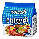 Paldo Bibim tallarines coreanos sabor picante jugo de manzana sopa de fideos orientales Stype (Pack de 5)