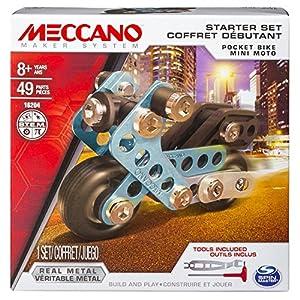 Meccano Starter Set Juego de construcción de varios modelos - juegos de construcción (Juego de construcción de varios modelos, 8 año(s), Negro, Metálico, Metal, 125 mm, 39,9 mm)