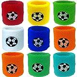 German Trendseller® - 12 x bandeaux de poignet┃bracelets de sport┃bandeaux protège-poignets┃ pour petits footballeurs┃petit cadeau┃ l'anniversaire d'enfant