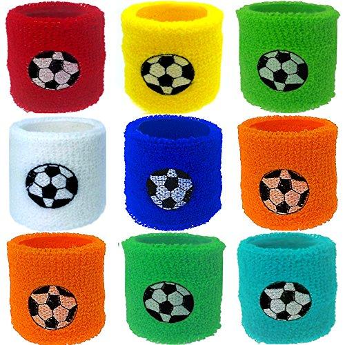 Preisvergleich Produktbild German Trendseller® - 12 x Fußball Schweißband  Handgelenk  Mitgebsel  Kindergeburtstag  Für 12 Kinder