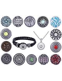 Morella mujer 14 Click-Button Starter-Set de pulsera o collar