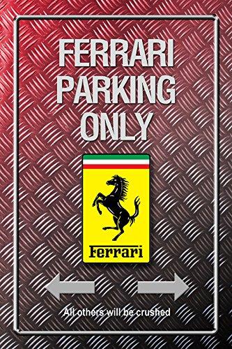 Ferrari Parking only Metallic blechschild