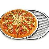 Pizza-Schirm,Mehrfache Größen Aluminiumlegierungs-Material-nahtlose Aluminiummasche Pizza-Bildschirm-Backblech Bakeware-Kochnetz Benutzt Mit Plattform-Öfen Und Förderer-Öfen