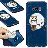 Galaxy S8 Plus Hülle, WindTeco Eule Muster Weich TPU Silikon Schutzhülle Bumper Handytasche HandyHülle Etui Schale Case Cover Tasche für Samsung Galaxy S8 Plus