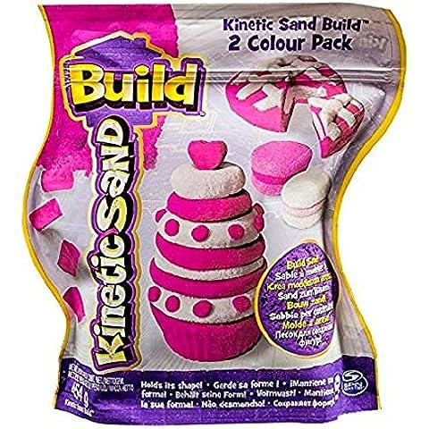 Kinetic Sand Construye 2 Colores Paquete (Rosa/Blanco) 454g
