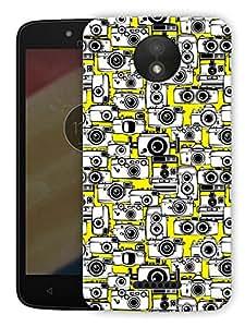 "Ulta Anda Lots Of Cameras Printed Designer Mobile Back Cover For ""Motorola Moto C"" (3D, Matte Finish, Premium Quality, Protective Snap On Slim Hard Phone Case, Multi Color)"