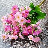 ALCYONEUS alkyoneus Künstliche Fake Seide Campanula Blumen Leaf Bouquet Home Hochzeit Party Decor, Seide, rose, Mini