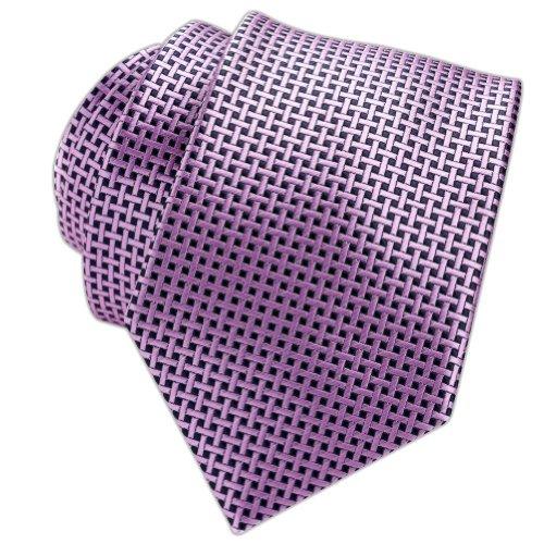 Neckties by Scott Allan Herren Krawatte, geometrisch, Violett -