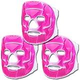 Schramm® 3-delige set koelmaskers roze gezichtsmasker koelmasker koelbril oogmasker gelmasker slaapmasker ontspanningsmasker