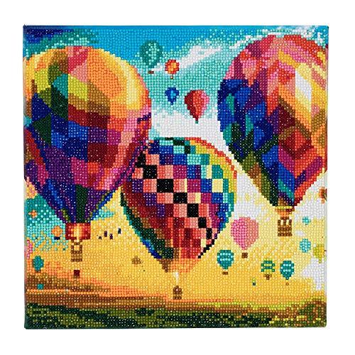 Craft Buddy 30cm x 30cm Gerahmte Kristall Kunst Kit (Hot Air Balloons)