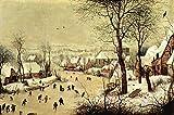 The Museum Outlet Paysage d'hiver avec patineurs par Pieter Bruegel–Poster Print Online Buy (76,2x 101,6cm)
