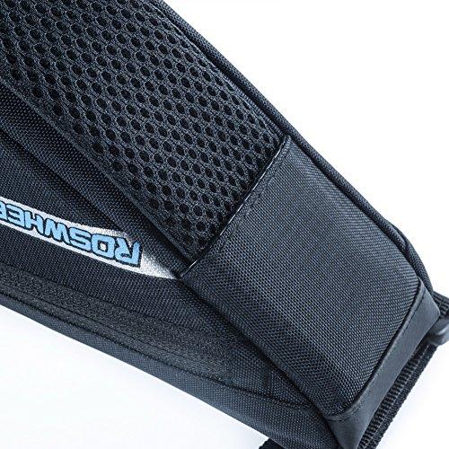 ROSWHEEL Triangle Rahmen Fahrrad Tasche Nylon Front Top Rohrrahmen Tasche Sattel Pack Schwarz