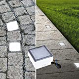 LED Pflasterstein Bodenleuchte Gartenstrahler Bodeneinbauleuchte Außenleuchte IP68 230V (Neutralweiß 8x8cm quadratisch #PF1)