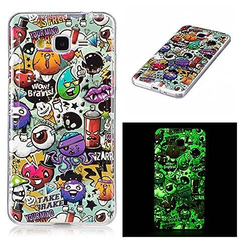 Meet de Slim de Protection Téléphone Case pour Samsung Galaxy Grand Prime G530 Bumper Case Coque Slim TPU Transparent Silicone Housse Etui - campanule