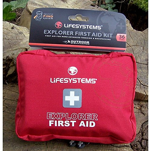 Lifesystems–Explorer Kit de primeros auxilios Rojo rosso Talla:talla única