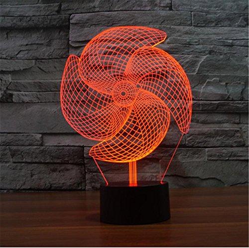 ZHIYUAN Bunte berührungsempfindliche LED Vision Beleuchtung Lampen/Geschenk/Creative 3D Energiesparventilator Nachtlicht
