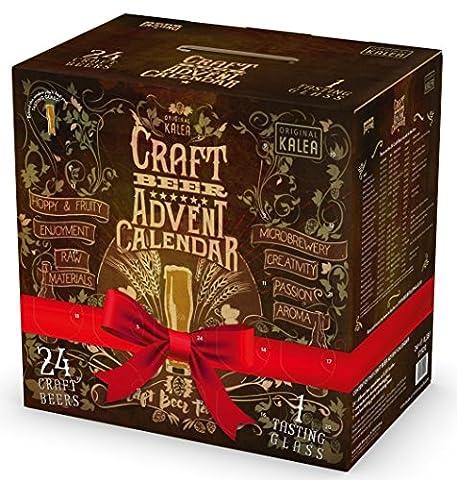 Kalea - Craft Beer Adventskalender Bierspezialitäten 10,5% Vol. - 24x0,33l inkl. Pfand (Dezember Kalender 2016 Weihnachten)
