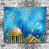 GuDoQi Tapisserie Unterwasserwelt Fisch Tapisserie Wandteppich Wand Dekoration Home Decor Beach Blanket
