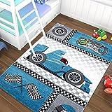 Niños alfombra infantil Carpet Auto Car Racer 3Tamaños y 2colores Top Precio, polipropileno, rojo, 80 x 150 cm