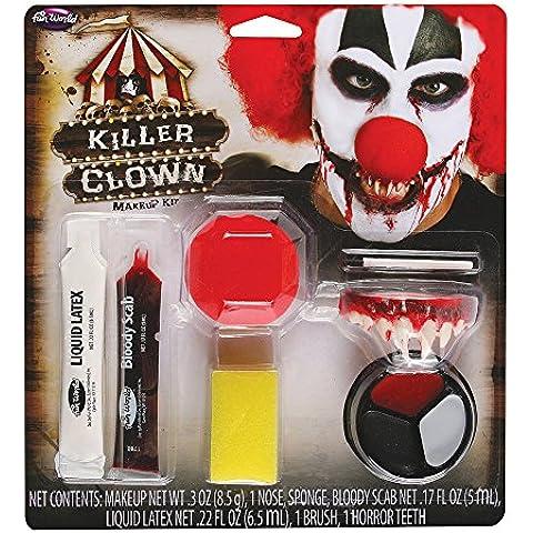 Mujer Hombre Muerto Asesino Crazy Payaso Halloween Efectos Especiales Maquillaje Disfraz Kit