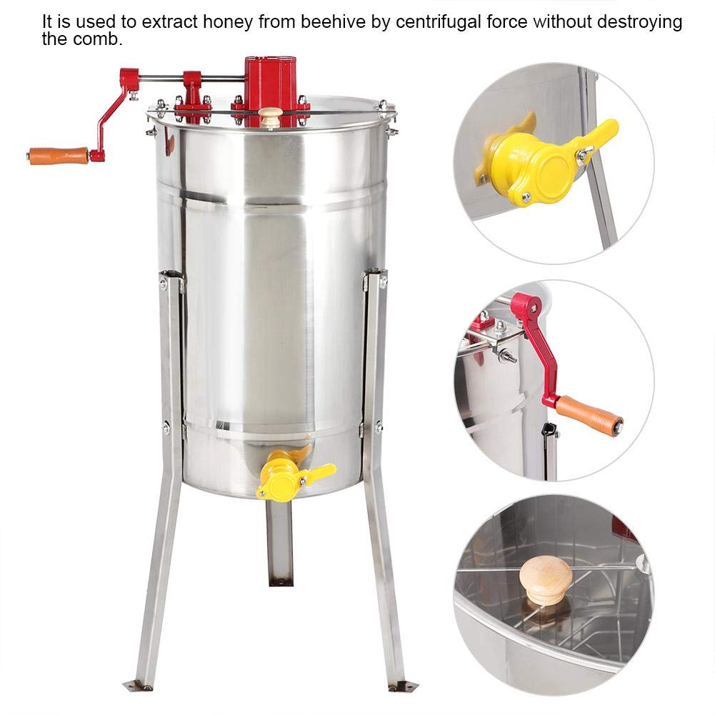 Honey Extractor 3 Frame Manual Spinner Stainless Steel Langstroth Beekeeping