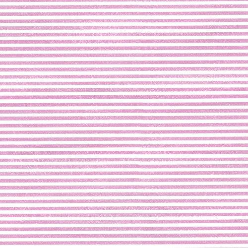 Caspari Entertaining - Papel de regalo (2,5m aprox.), diseño de rayas, color rosa y blanco