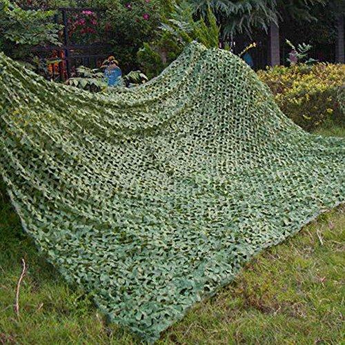 Filet de camouflage - Utilisation militaire, dans le désert, au camping, à la chasse, comme pare-soleil, Green, 3x5M