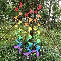 UxradG Colgante de Viento para Jardín, Diseño de Espiral, Plegable, Diseño de Arcoíris, para Decoración de Fiestas, Camping, etc.