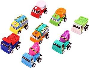 mamum 8PCS Auto Spielzeug, 8/Set Pull Back Car Spielzeug Mini Cars Cartoon Kinder Spielzeug für Kinder Jungen Geschenke