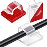 60 Pezzi Clip per Cavi da Esterno con Nastri Adesivi Clip di Luce Decorazione Clip Ganci Autoadesivi Fermacavi per Luce Fata