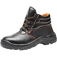 NiSeng Hommes Noir Chaussures De Sécurité Bottes De Sécurité Confortable Et Respirant Durable Slip Résistant À l'usure…