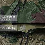 Aodoor Regenjacken Regenponcho wasserdicht regenmantel für die Jagd Camping, Freizeit Regenmantel, Camouflage Rain Poncho - 6