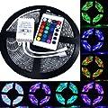 Cvlife 5m 3528 RGB 300LED Strip Leiste Wasserdicht Lichtband + Fernbedienung Streifen Leiste 5 Meter Lichtschlauch Lichterkette 12V