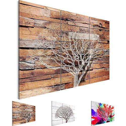 Bilder 120 x 80 cm - Baum Bild - Vlies Leinwand - Kunstdrucke -Wandbild - XXL Format – mehrere Motive und Größen im Shop - Fertig Aufgespannt - Holzwand – Bunt – Abstrakt 108931a