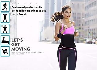 ADA Waist Trimmer Belt Slimming Neoprene Ab Belt Trainer for Faster Weight Loss, Stomach Fat Burner Wrap Tummy Control/Belly Tummy Yoga Wrap Black Exercise Body Slim Look Belt - Pink
