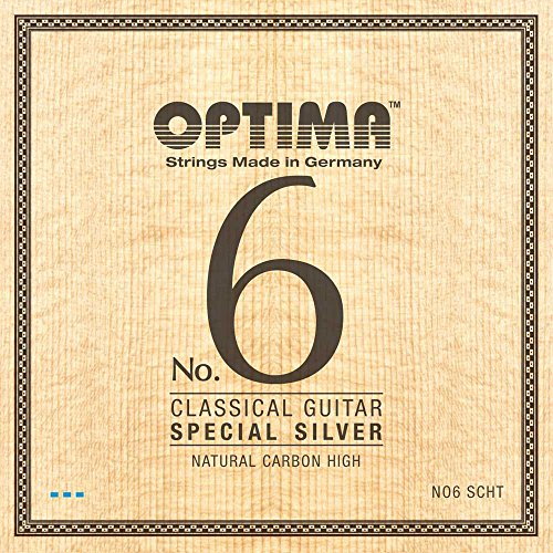 Optima No.6 Classical SPECIAL SILVER Strings, Carbon (wound G3) Set - High Tension