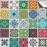 24 stück Fliesenaufkleber für Küche und Bad (Tile Style Decals 24 TP50 6