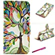 "iPhone 6 Case, JCmax Premium Flip Book Style PU leather Wallet Case Cover With Credit Card Slots and Magnetic Closure for Apple iPhone 6 (4.7"") -[Floral Tree Pattern]"