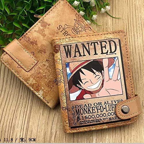 YANGPP Herren Pu Leder Haspe Geldbörse Mit Reißverschluss Münzfach KartenhalterCartoon Anime Geldbörse, 08 Mit Geschenkbox