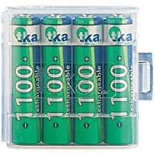 tka Köbele Akkutechnik AAA Akku: 4er-Set NiMH-Akkus Typ AAA / Micro, 1.100 mAh, mit Aufbewahrungs-Box (Ni-Mh Akkus AAA)