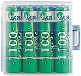 tka Köbele Akkutechnik AAA Akku: 4er-Set NiMH-Akkus Typ AAA/Micro, 1.100 mAh, mit Aufbewahrungs-Box (Akku Batterien AAA