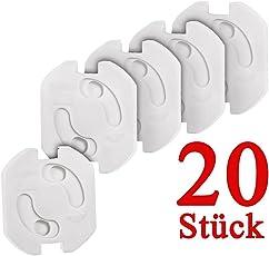 Colico 20x Kindersicherung für Steckdose mit Drehmechanik - Steckdosenschutz Steckdosensicherung Baby Kleinkinder