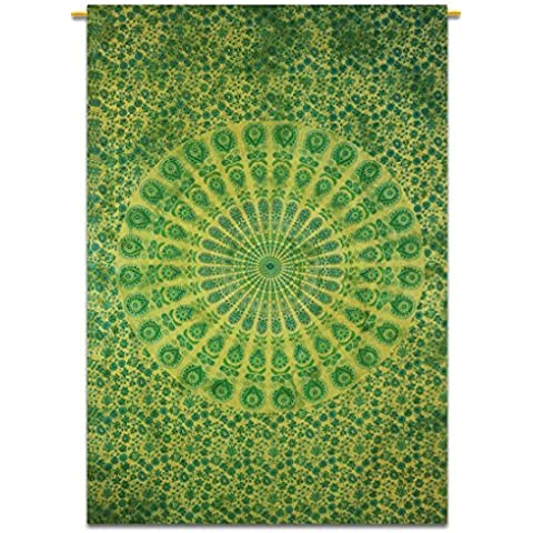 Indiano Wall Hanging Boho verde Tapestry Mandala