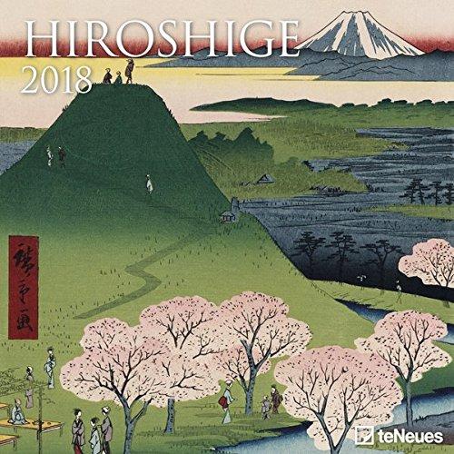 2018 Hiroshige Calender - teNeues Grid Calendar- Art Calender - 30 x 30 cm