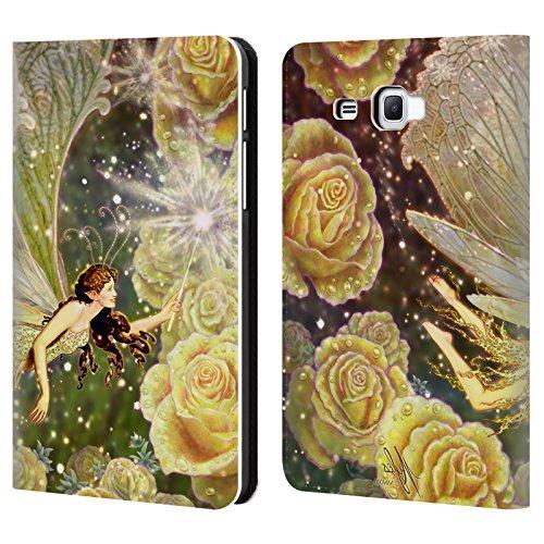 Head Case Designs Offizielle Myles Pinkney Karamellbonbon Fantasy Brieftasche Handyhülle aus Leder für Samsung Galaxy Tab A 7.0 (2016)
