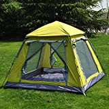TY&WJ Campingzelt, Auto Geschwindigkeit Tipi Beach Quadratische Outdoor zelten Wandern Wasserdicht 3-4 personen-grün 220x200x165cm(87x79x65inch)