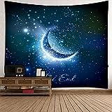 Decdeal Wandteppich Wandtuch Tapestry Strandtuch mit Sternenhimmel Muster und Größe Optional